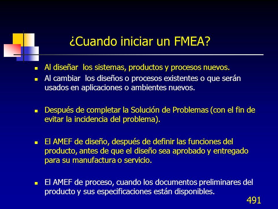 492 FMEA de Diseño - DFMEA