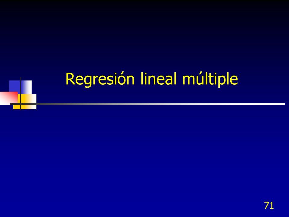 71 Regresión lineal múltiple