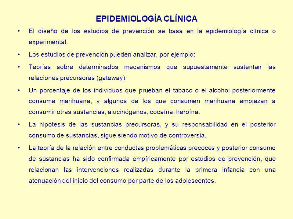 EPIDEMIOLOGÍA CLÍNICA El diseño de los estudios de prevención se basa en la epidemiología clínica o experimental.
