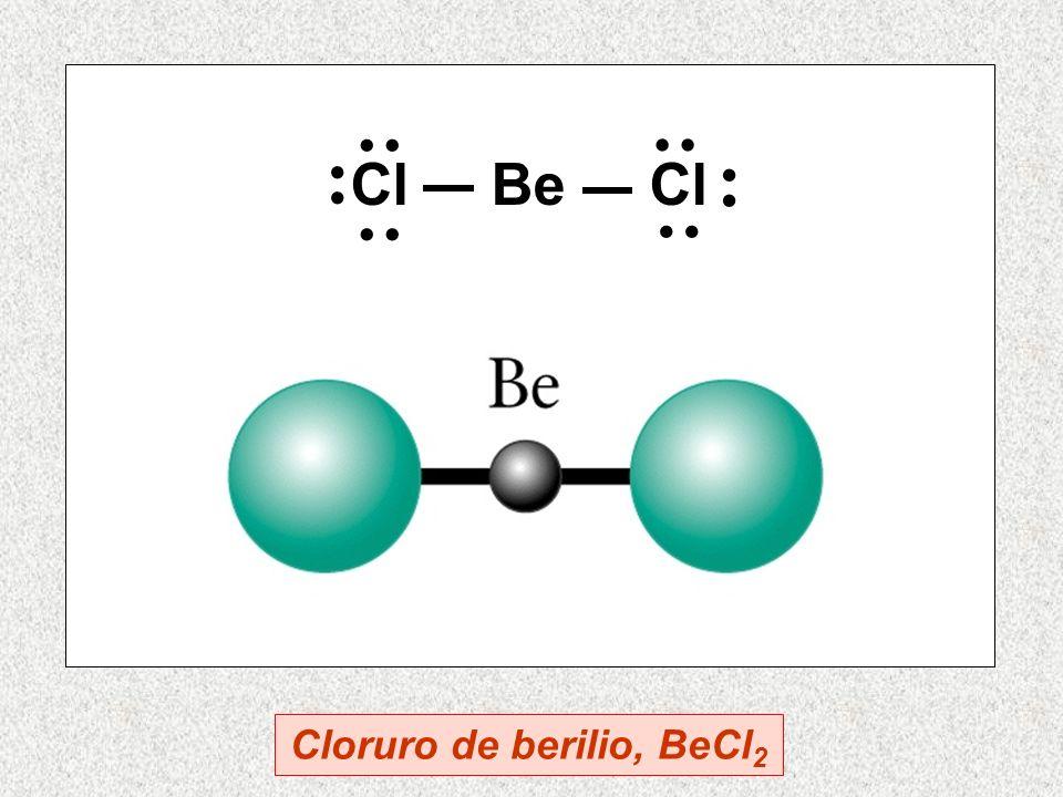 Cl Be Cl Cloruro de berilio, BeCl 2