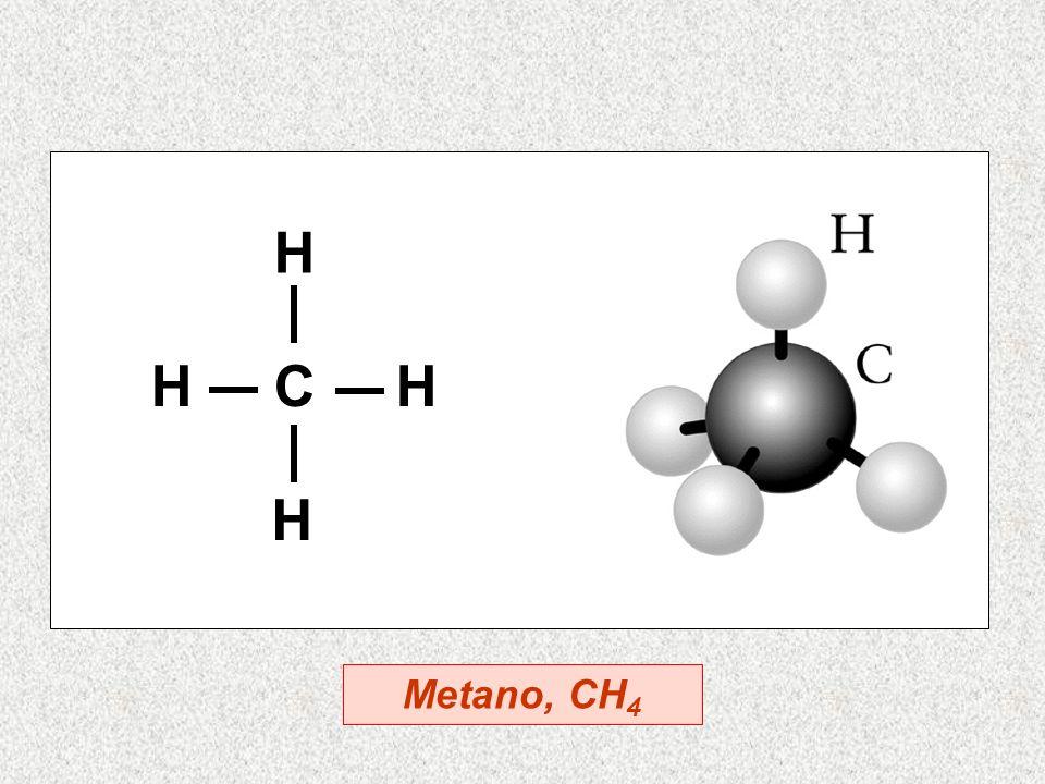 H C H H H Metano, CH 4