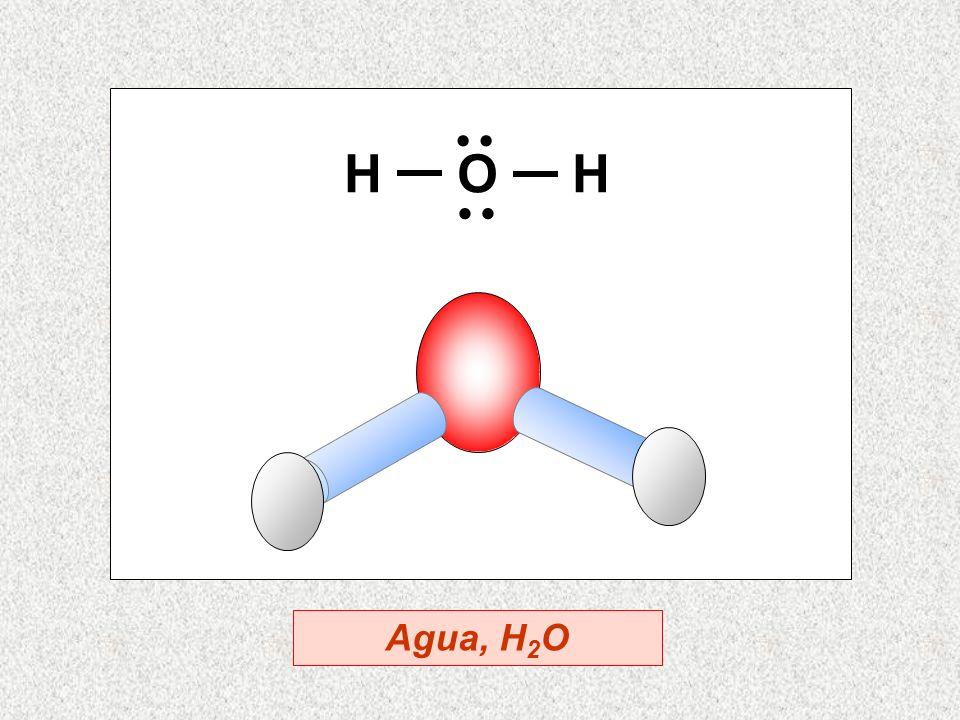 H O H Agua, H 2 O