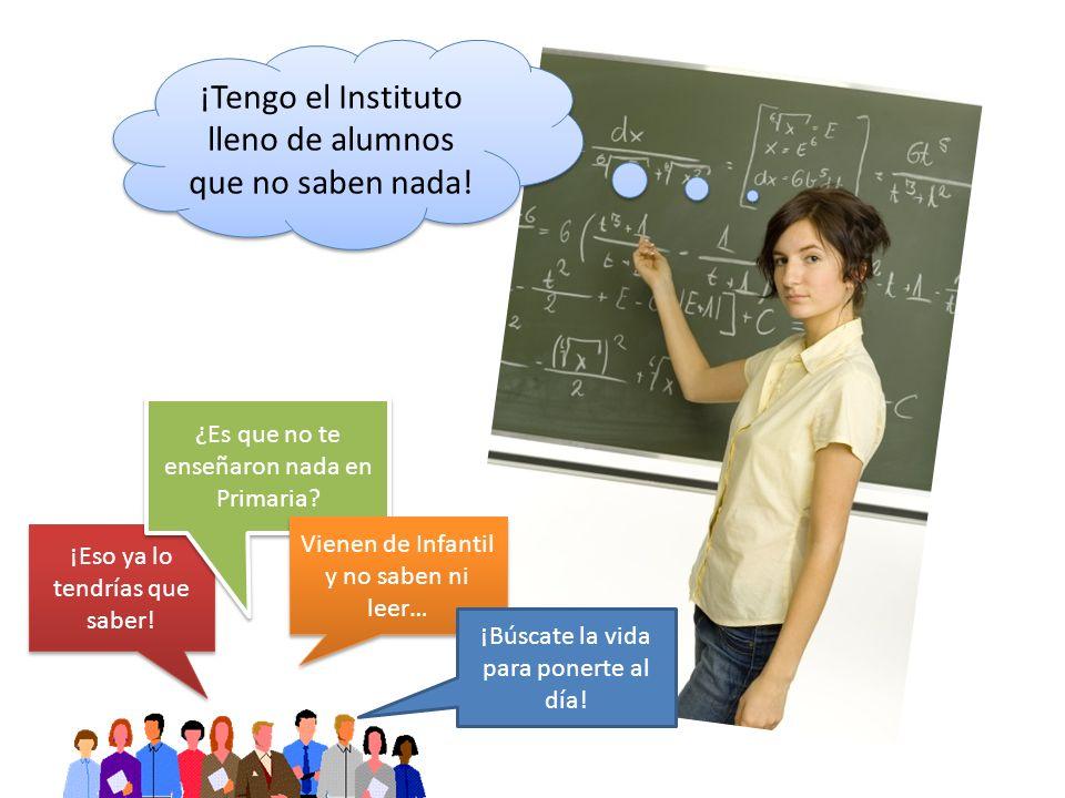 ¡Tengo el Instituto lleno de alumnos que no saben nada.