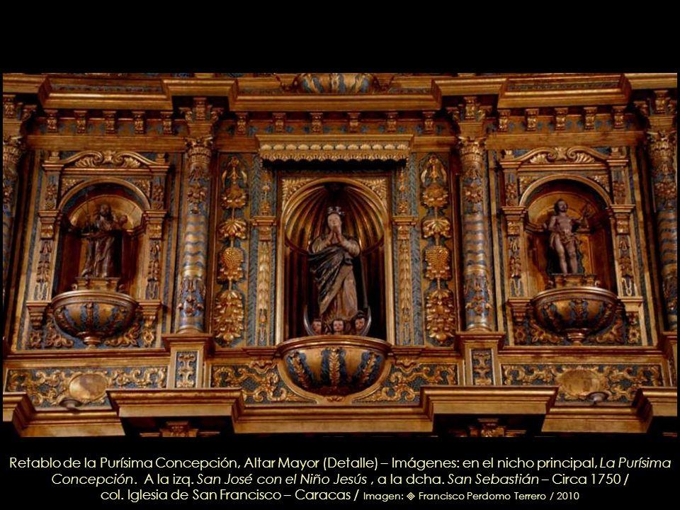 Retablo de la Purísima Concepción, Altar Mayor, detalle del Sagrario / col. Iglesia de San Francisco – Caracas / Imagen: Leonardo Nazoa Bolívar / 2010