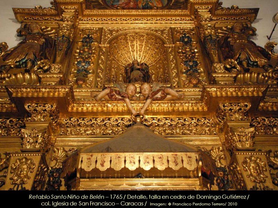 Santa Bárbara – Circa 1765 / detalle retablo del Santo Niño de Belén / col. Iglesia de San Francisco – Caracas / Imagen: Leonardo Nazoa Bolívar / 2010