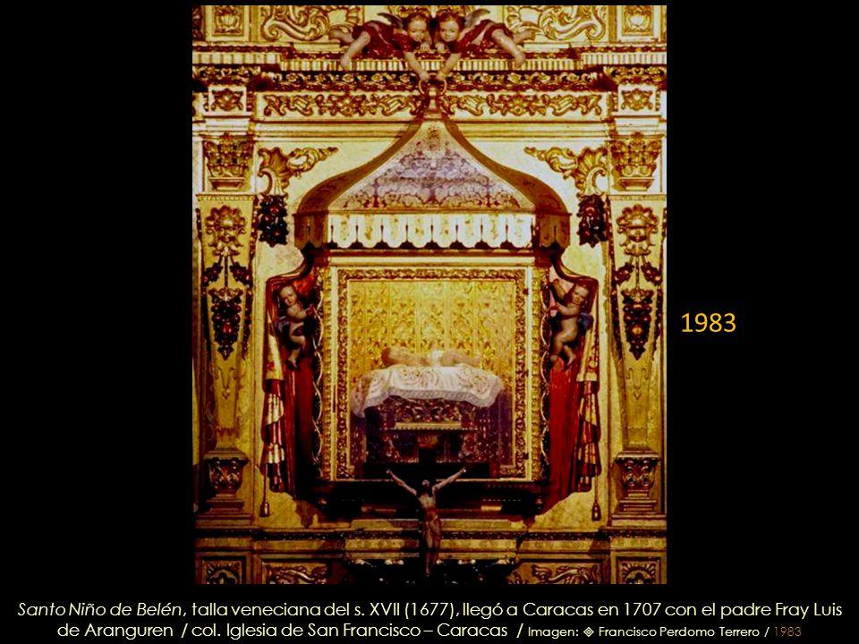 Querubines que sostienen el pabellón, tallados en cedro por Domingo Gutiérrez, retablo del Santo Niño de Belén – 1765 /col. Iglesia de San Francisco –