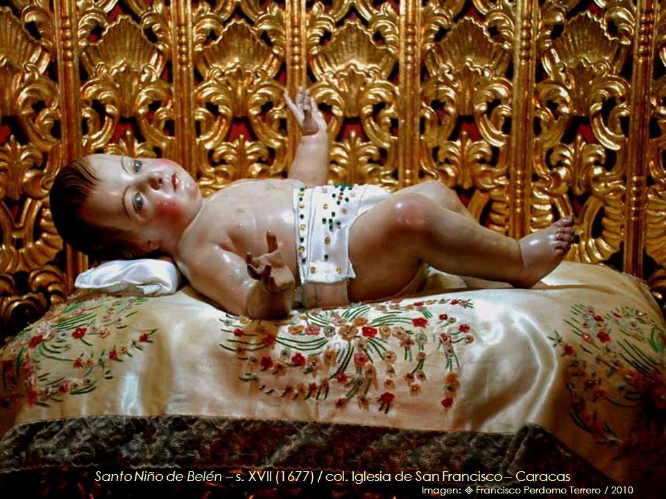 Santo Niño de Belén, talla veneciana del s. XVII (1677), llegó a Caracas en 1707 con el padre Fray Luis de Aranguren / col. Iglesia de San Francisco –