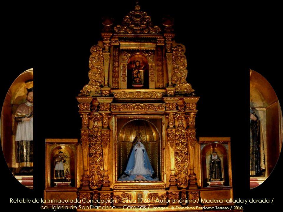 En la orla: Santa María Salomé, óleo sobre tela - Anónimo - 1785 / Detalle, retablo del Santo Cristo de la Humildad / col. Iglesia de San Francisco –