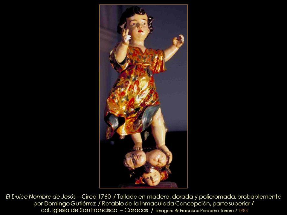 izq. San Juan Nepomuceno / ctro. Inmaculada Concepción /dcha. Sta. Rita. col. Iglesia de San Francisco – Caracas / Imagen: Francisco Perdomo Terrero /