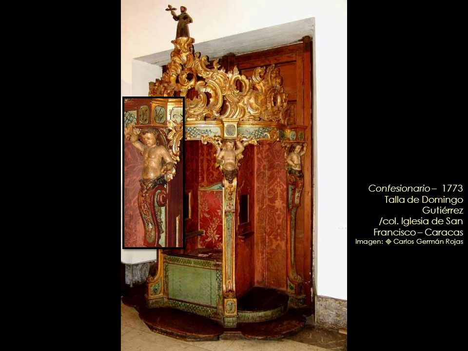 El Dulce Nombre de Jesús – Circa 1760 / Tallado en madera, dorada y policromada, probablemente por Domingo Gutiérrez / Retablo de la Inmaculada Concep