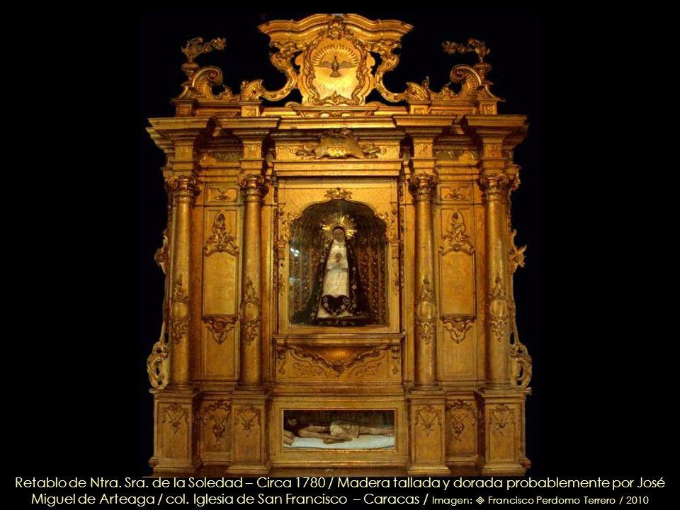 San Francisco de Asís (Detalle), talla en madera, policromada, anónimo – Circa 1700 / Perteneció al Convento de San Francisco /col. Iglesia de San Fra