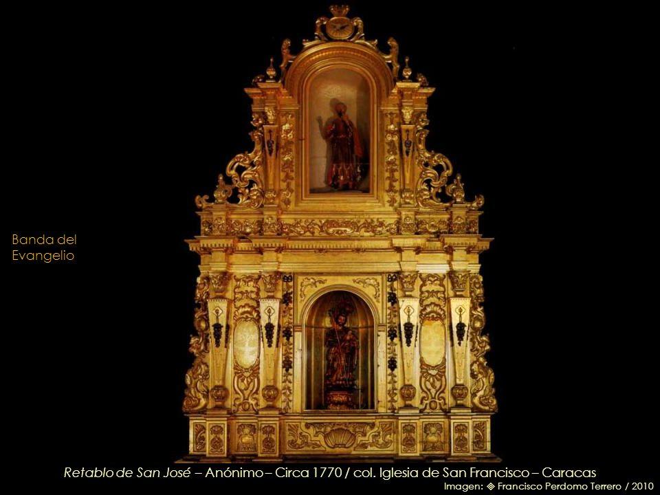 Inmaculada Concepción – Anónimo mexicano – Circa 1750 / Nicho de madera dorado y pintado / En las puertas, cuatro cartelas con indulgencias de distint