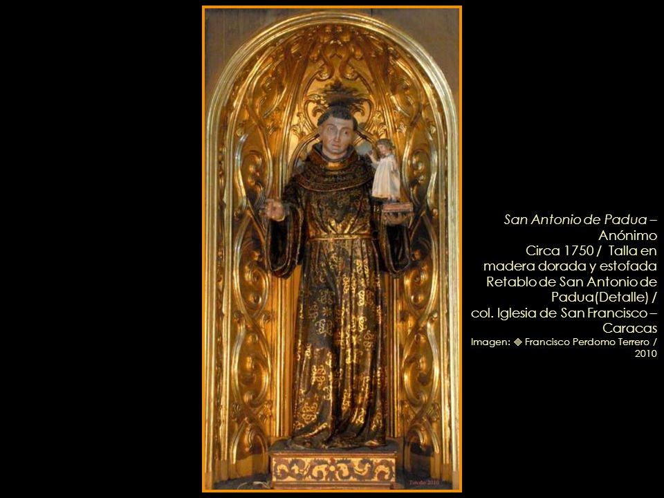 San José – Anónimo guatemalteco – Circa 1760 / Talla en cedro dorada y policromada Retablo de San José (Detalle) /col. Iglesia de San Francisco – Cara