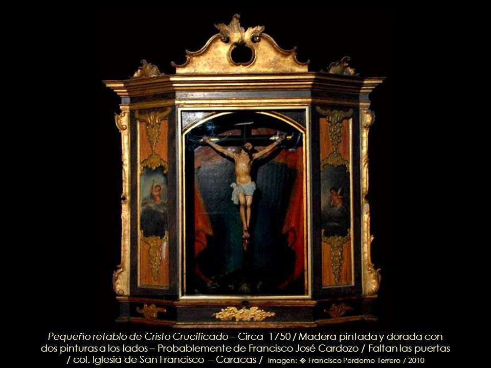 San Antonio de Padua – Anónimo Circa 1750 / Talla en madera dorada y estofada Retablo de San Antonio de Padua(Detalle) / col. Iglesia de San Francisco