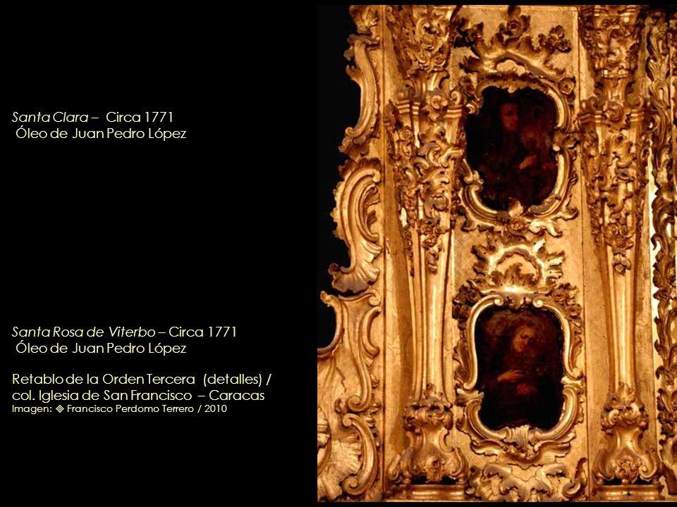 Santa Isabel de Hungría – Circa 1771 Óleo de Juan Pedro López Retablo de la Orden Tercera (detalle) / col. Iglesia de San Francisco – Caracas Imagen: