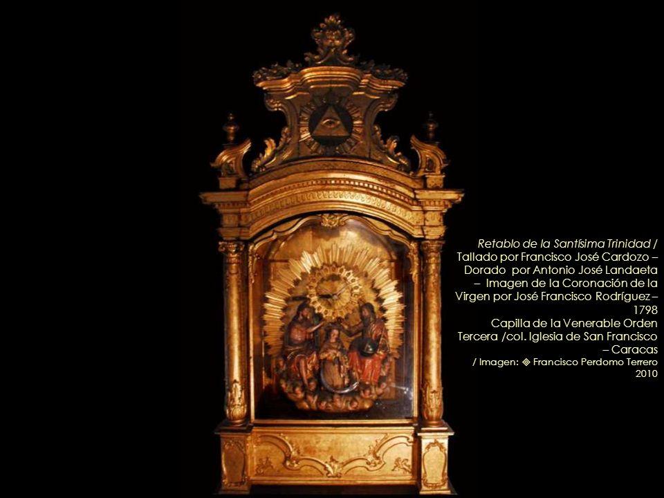 San Luis Rey de Francia – Circa 1771 Óleo de Juan Pedro López Retablo de la Orden Tercera (detalle) / Iglesia de San Francisco – Caracas Imagen: Franc