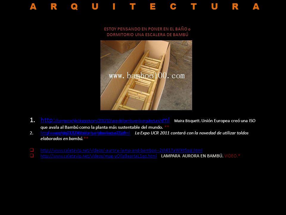 NOTICIAS 1.http://www.cookingideas.es/%C2%A1que-cana-llevando-una-botella-de-agua-desde-alaska-a-tierra-de-fuego-en-bicicletas-de-bambu-20100930.html Más de 30.000 km de carreteras sobre bicicletas de bambú, cuya producción además no requiere de electricidad o de soldaduras, ya que nunca se oxida.