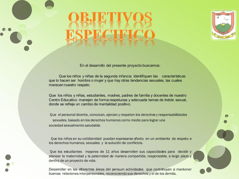 TRANSVERSALIDAD EN LOS PROCESO DE FORMACION PARA LA SEXUALIDAD Y LA CONVIVENCIA.
