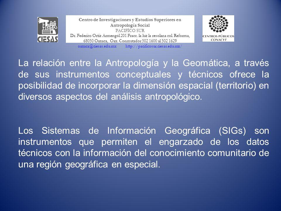 Centro de Investigaciones y Estudios Superiores en Antropología Social PACIFÍCO SUR Dr.