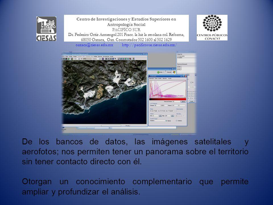 La imagen satelital y el conocimiento del territorio Los SIGs permiten manipular la información contenida en las imágenes satelitales e inferir situaciones de variables analizadas.