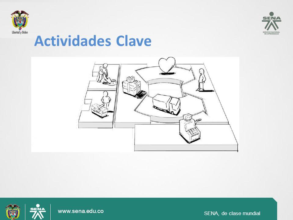 SENA, de clase mundial www.sena.edu.co SENA, de clase mundial Actividades Clave