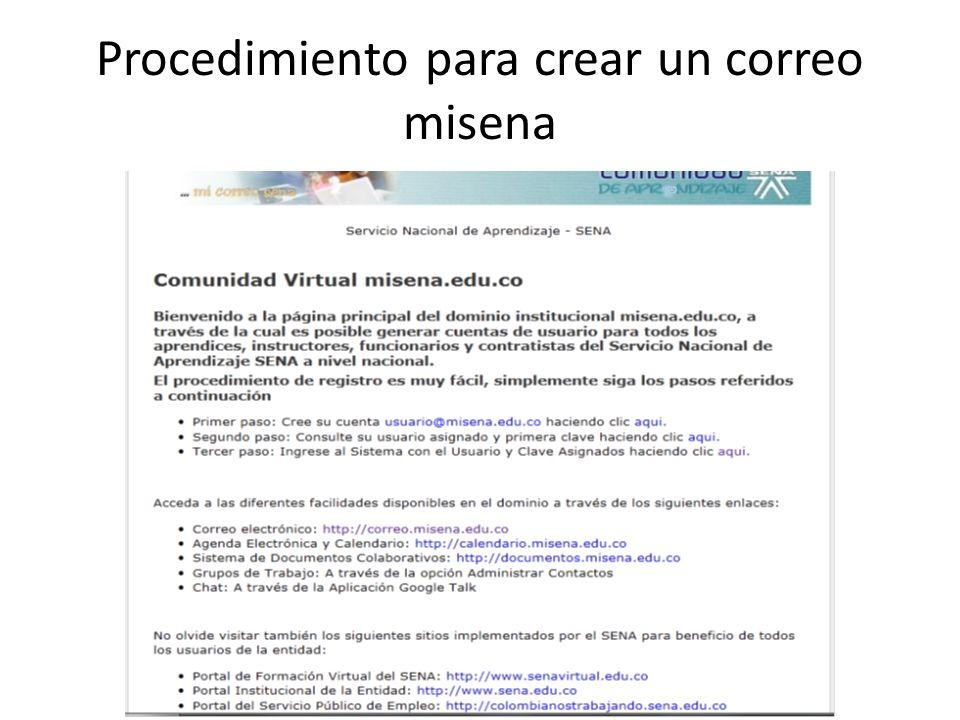 1.Ya habiendo regresado a la pagina principal www.misena.edu.co.