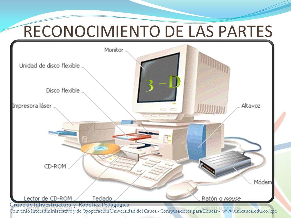 13 RECONOCIMIENTO DE LAS PARTES Grupo de Infraestructura y Robótica Pedagógica Convenio Interadministrativo y de Cooperación Universidad del Cauca - C