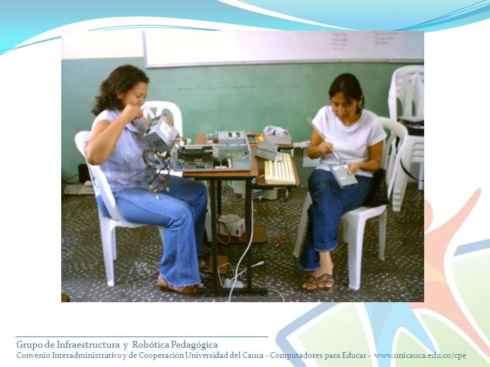 Grupo de Infraestructura y Robótica Pedagógica Convenio Interadministrativo y de Cooperación Universidad del Cauca - Computadores para Educar - www.un