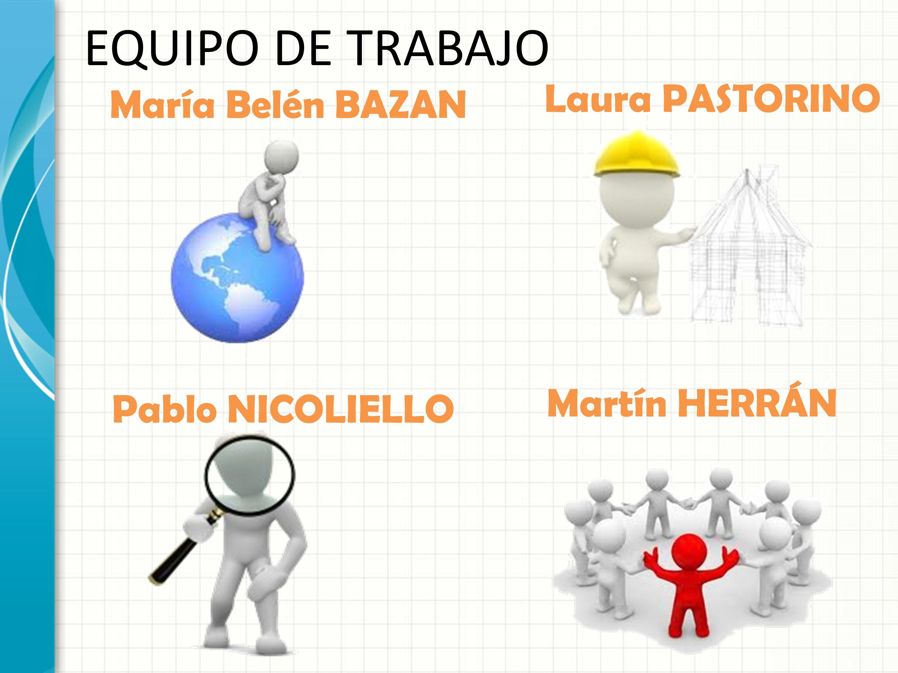 EQUIPO DE TRABAJO María Belén BAZAN Laura PASTORINO Pablo NICOLIELLO Martín HERRÁN