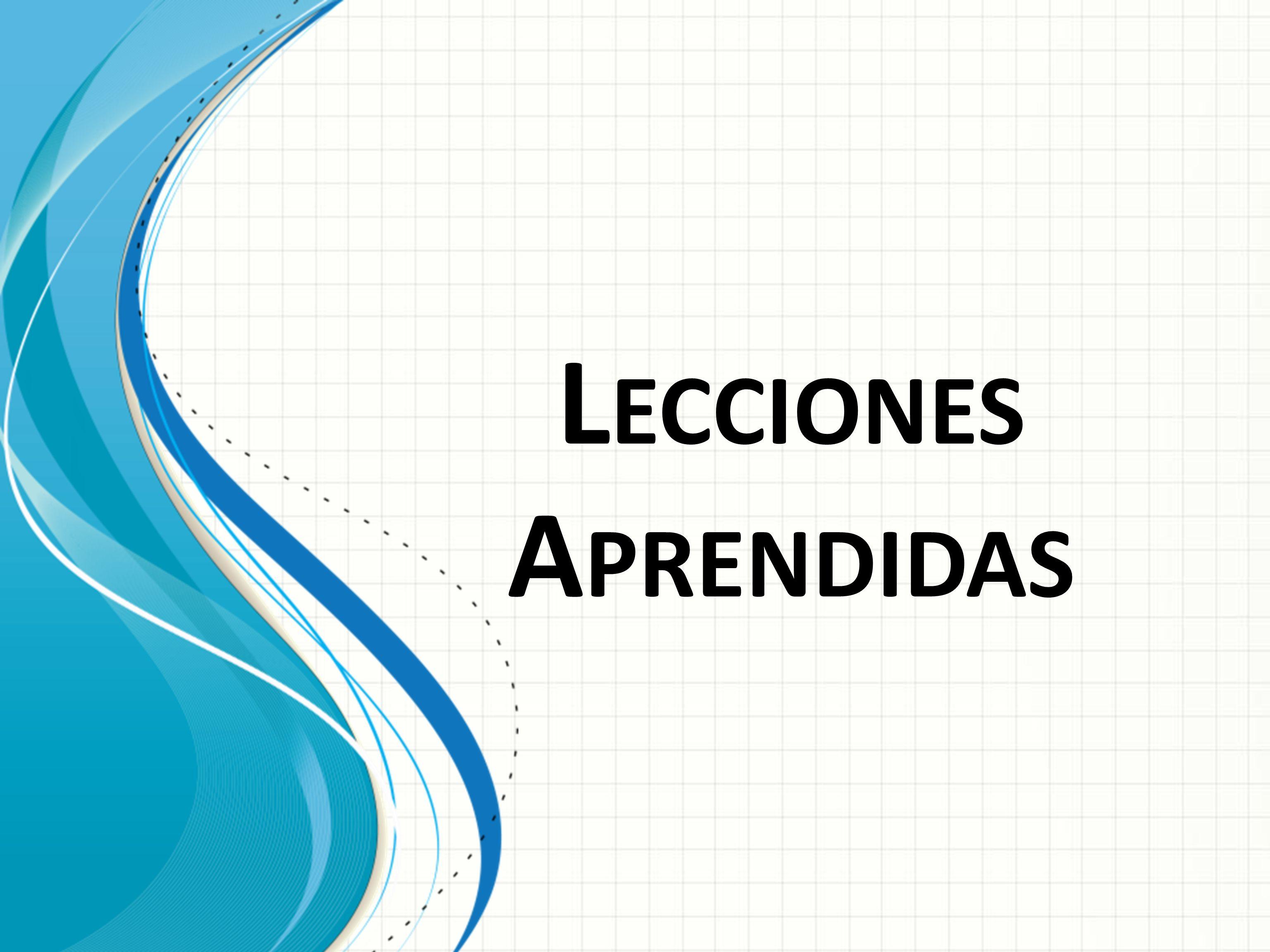 L ECCIONES A PRENDIDAS