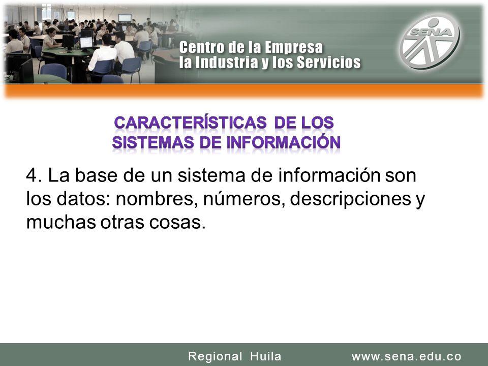 SENA REGIONAL HUILA REGIONAL HUILA CENTRO DE LA INDUSTRIA LA EMPRESA Y LOS SERVICIOS www.sena.edu.coRegional Huila 4.