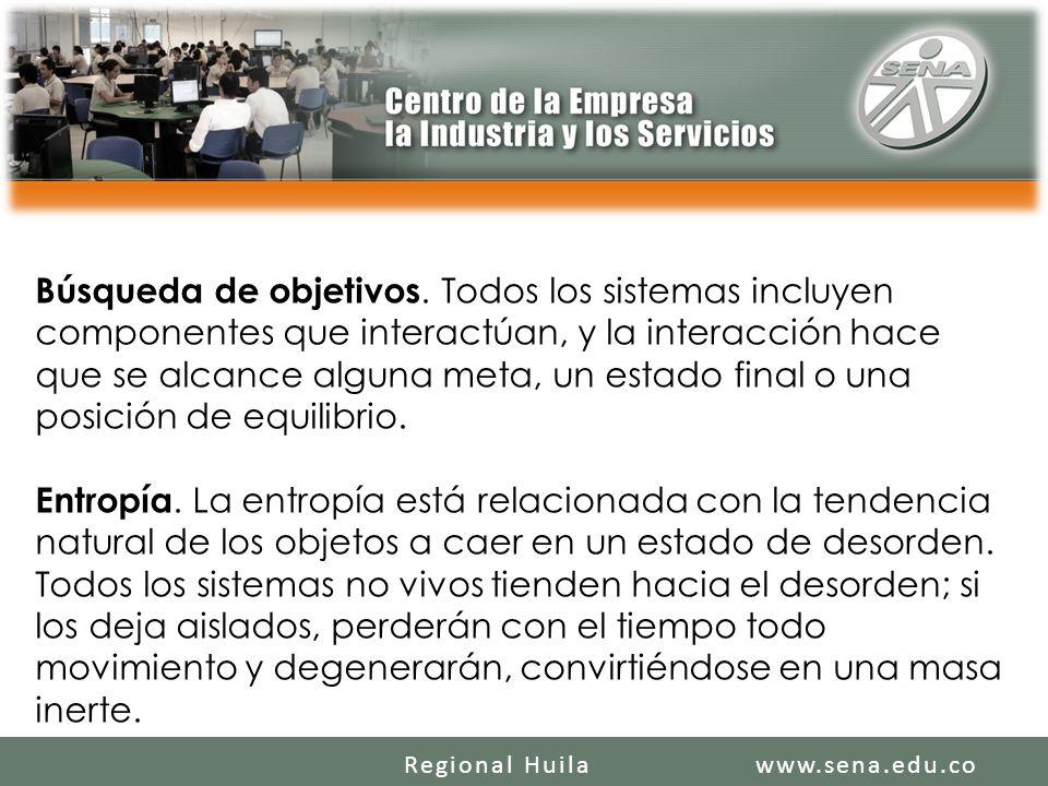SENA REGIONAL HUILA REGIONAL HUILA CENTRO DE LA INDUSTRIA LA EMPRESA Y LOS SERVICIOS www.sena.edu.coRegional Huila Búsqueda de objetivos.