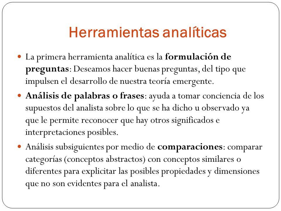 Herramientas analíticas La primera herramienta analítica es la formulación de preguntas: Deseamos hacer buenas preguntas, del tipo que impulsen el des