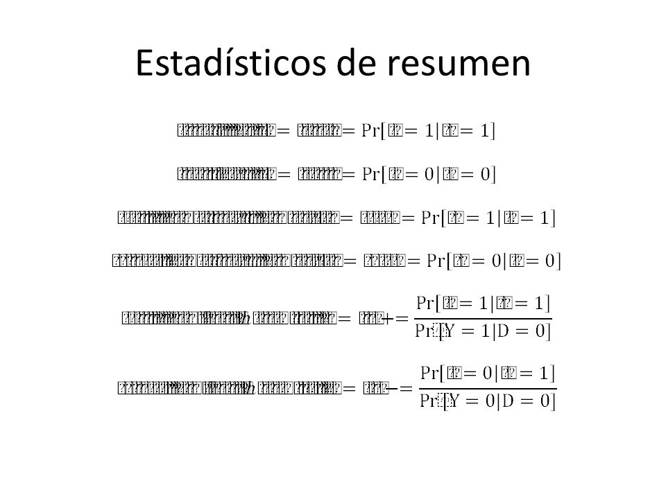 Referencias Seed PT, Tobias A.Summary statistics for diagnostic tests.