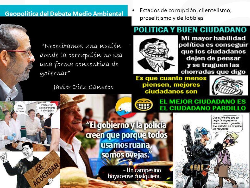 Geopolítica del Debate Medio Ambiental Estados de corrupción, clientelismo, proselitismo y de lobbies
