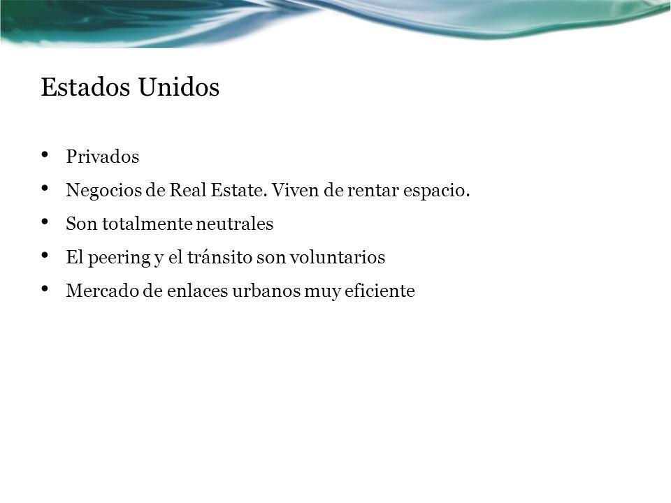 Estados Unidos Privados Negocios de Real Estate.Viven de rentar espacio.