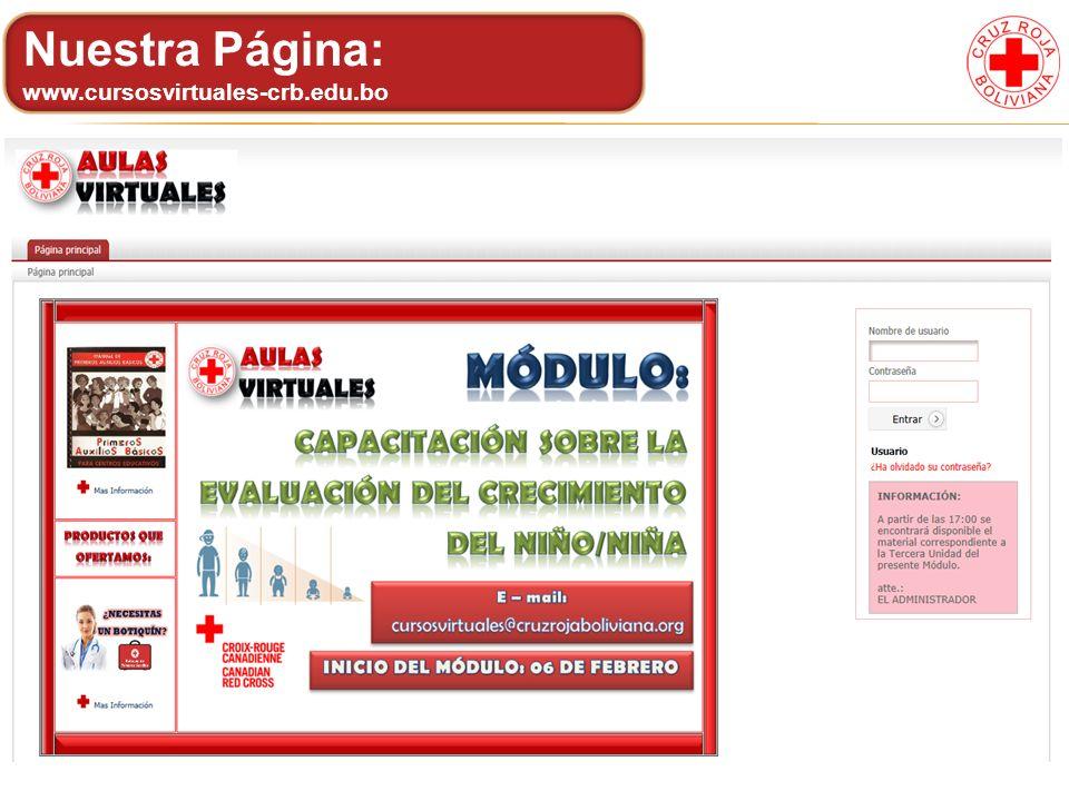 Nuestra Página: www.cursosvirtuales-crb.edu.bo