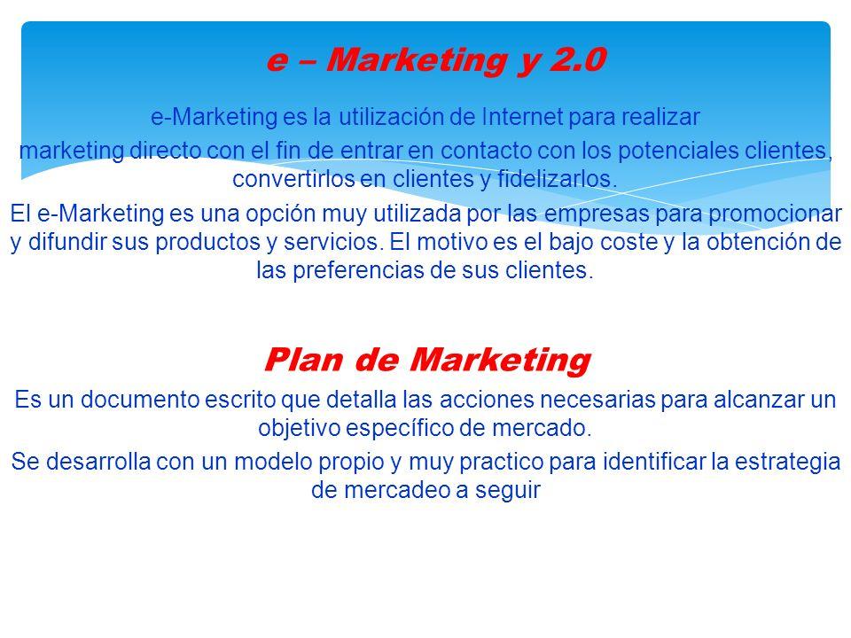 e-Marketing es la utilización de Internet para realizar marketing directo con el fin de entrar en contacto con los potenciales clientes, convertirlos en clientes y fidelizarlos.