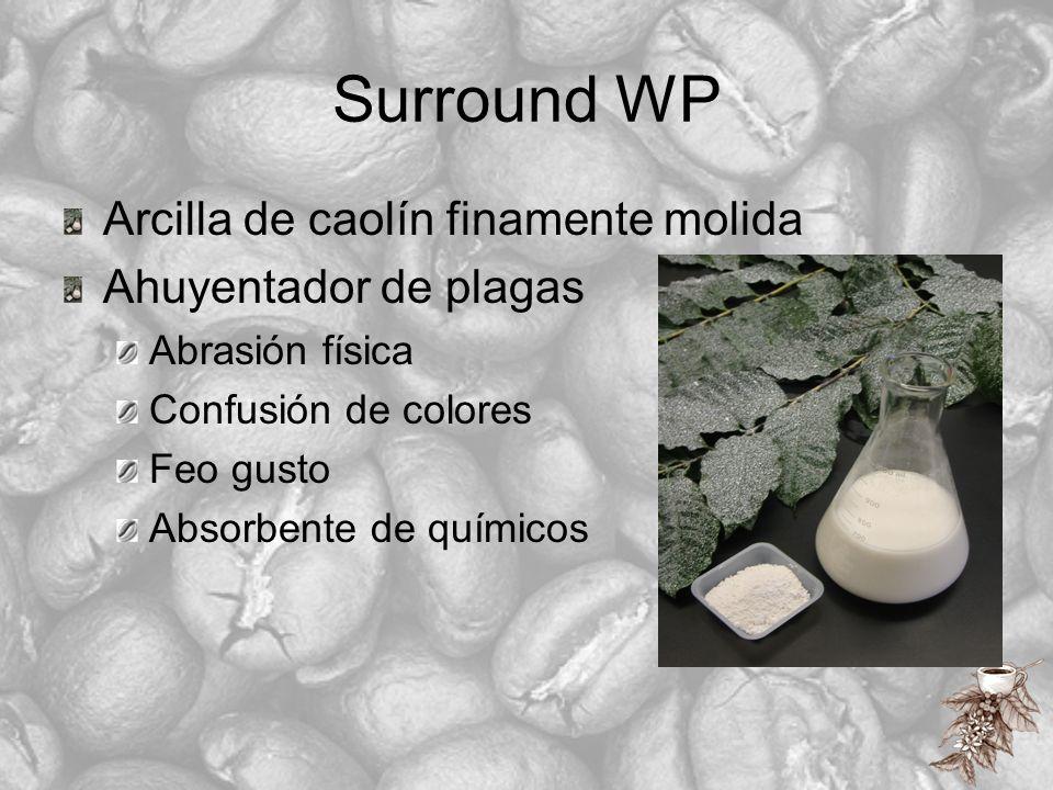 Surround WP Arcilla de caolín finamente molida Ahuyentador de plagas Abrasión física Confusión de colores Feo gusto Absorbente de químicos