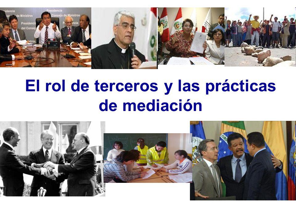 El rol de terceros y las prácticas de mediación