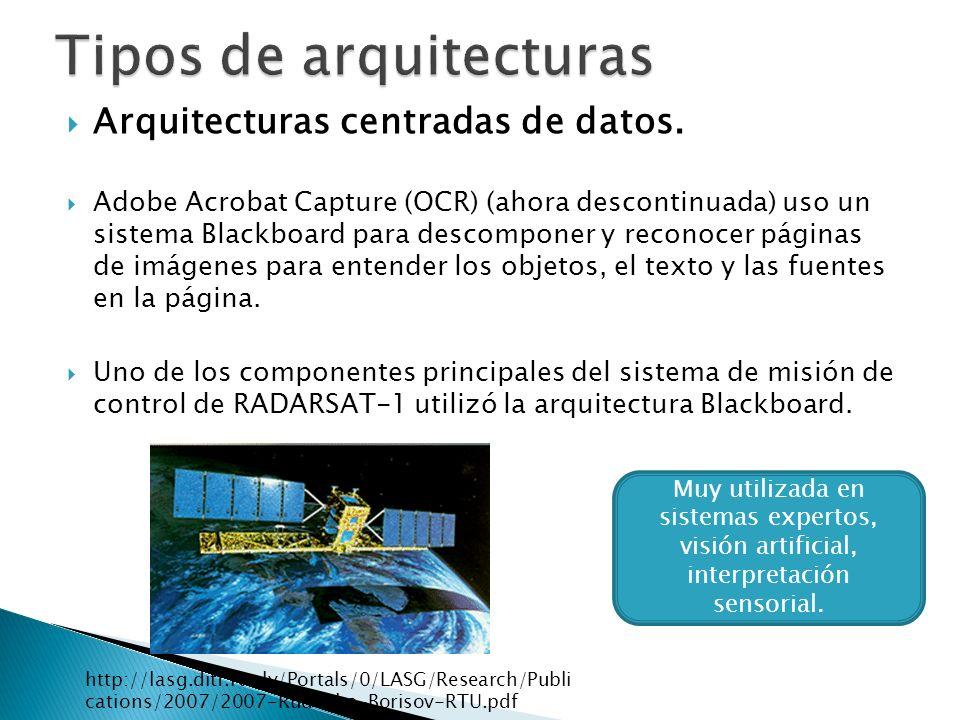 Arquitecturas de flujo de datos.
