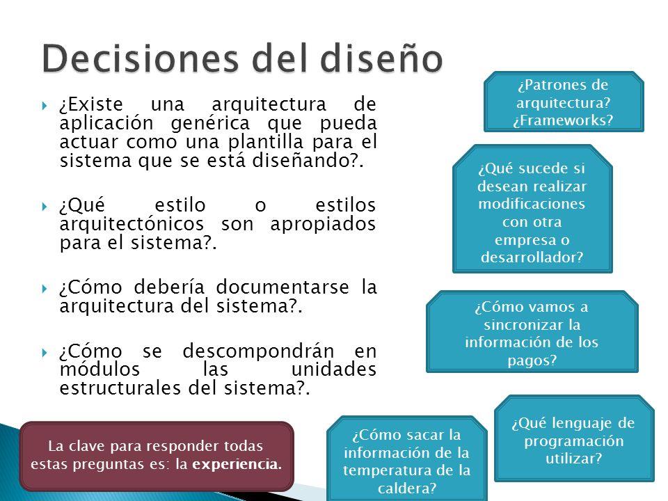 El resultado es un documento de diseño arquitectónico.