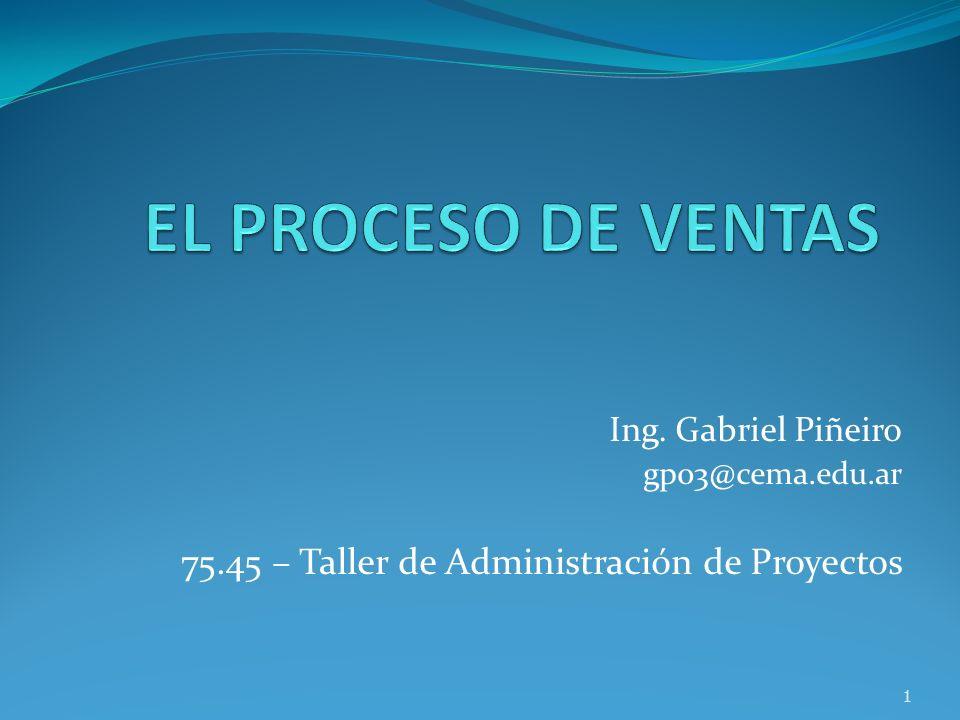Ing. Gabriel Piñeiro gp03@cema.edu.ar 75.45 – Taller de Administración de Proyectos 1