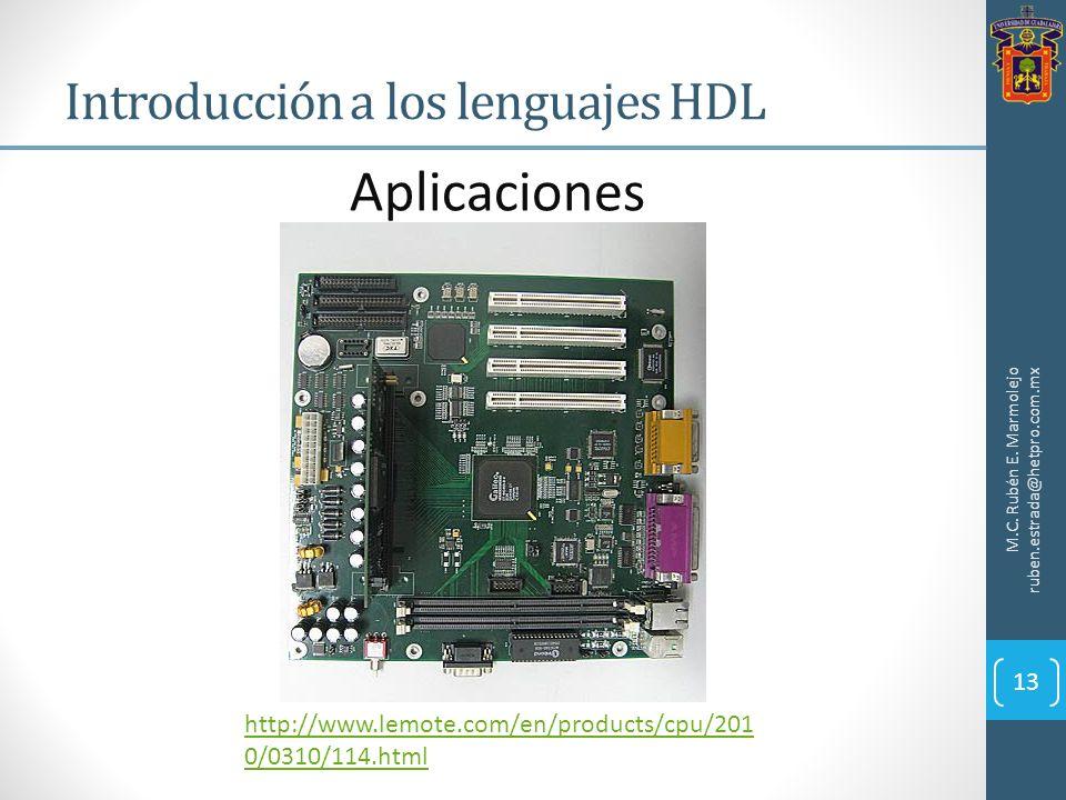 Introducción a los lenguajes HDL M.C. Rubén E. Marmolejo ruben.estrada@hetpro.com.mx Aplicaciones http://www.lemote.com/en/products/cpu/201 0/0310/114