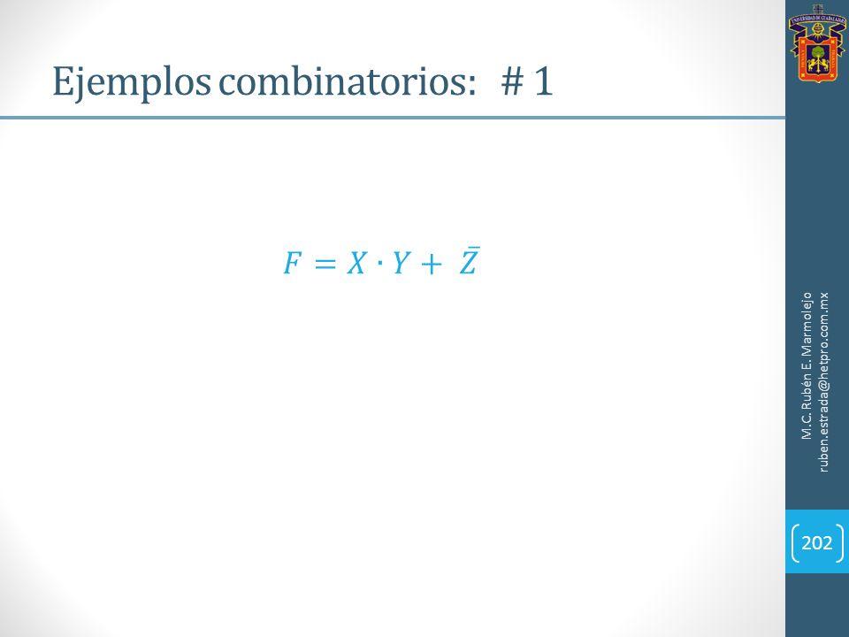 Ejemplos combinatorios: # 1 M.C. Rubén E. Marmolejo ruben.estrada@hetpro.com.mx 202