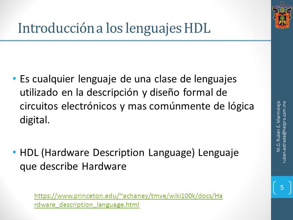 Es cualquier lenguaje de una clase de lenguajes utilizado en la descripción y diseño formal de circuitos electrónicos y mas comúnmente de lógica digit