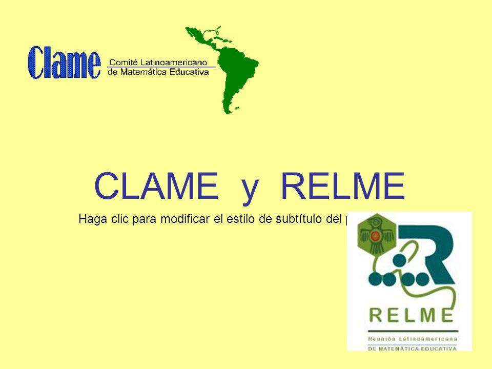 Haga clic para modificar el estilo de subtítulo del patrón CLAME y RELME