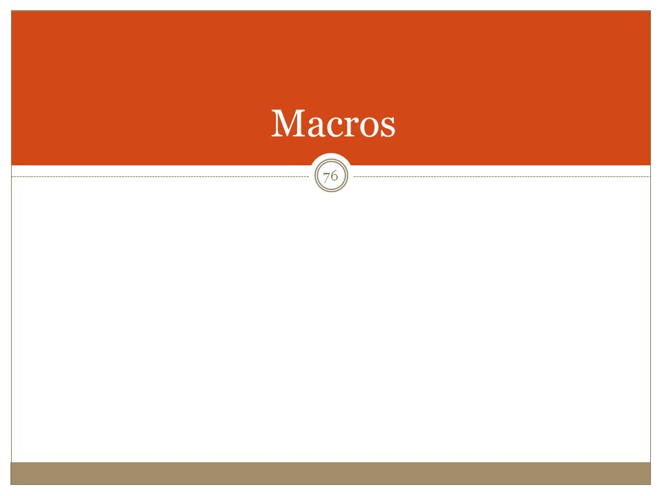 Macros 76