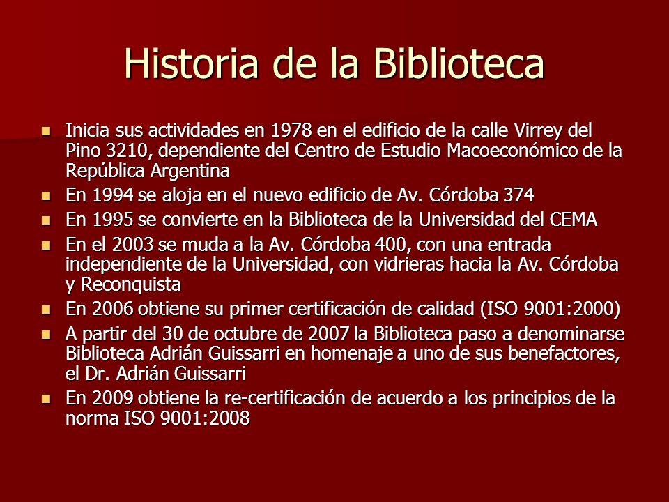 Historia de la Biblioteca Inicia sus actividades en 1978 en el edificio de la calle Virrey del Pino 3210, dependiente del Centro de Estudio Macoeconóm