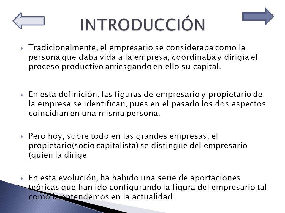 En grupos de cuatro compañeros investigar, utilizando los sitios de la Red suministrados en la sección de Recursos, completando el siguiente cuadro; TEORÍASCÓMO CONCIBEN AL EMPRESARIO CÓMO JUSTIFICAN EL BANEFICIO Economistas clásicos Marshall Knight Schumpeter Galbraith Kirzner Visión actual del empresario